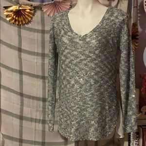 Brand new Silver Long sleeve Sequin top